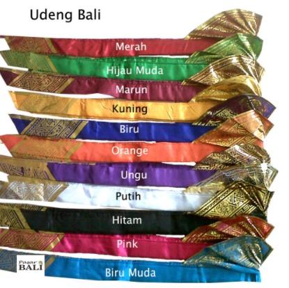 nama baju khas atau pakaian adat Bali untuk pria dan wanita lengkap dengan gambar dan keterangannya - udeng
