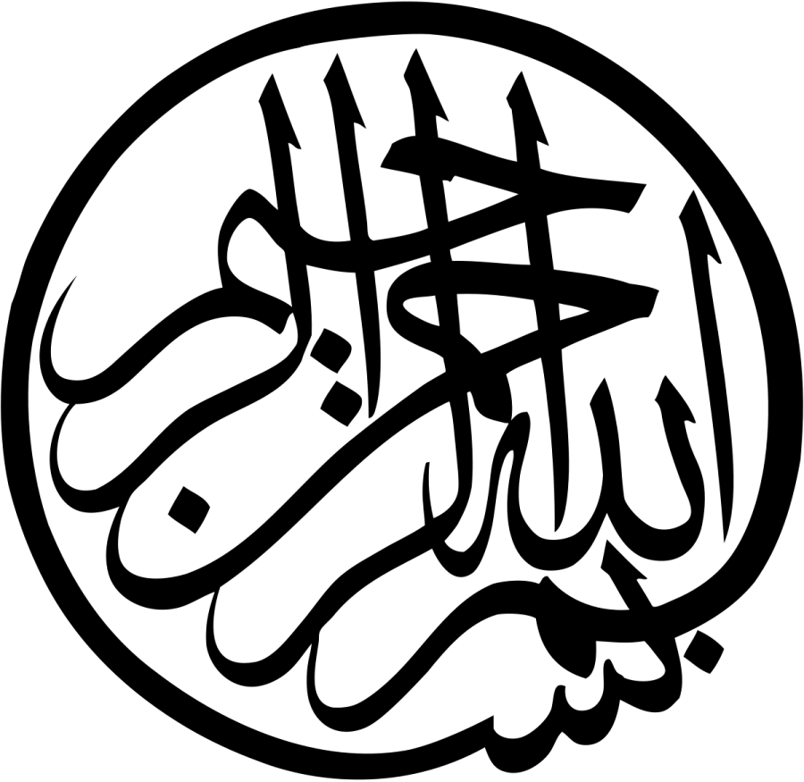 Gambar kaligrafi bismillah / Tulisan arab bismillah / bismilahirohmanirohim yg benar, kata kata bismillah dan tulisan arab lainnya yang biasa digunakan