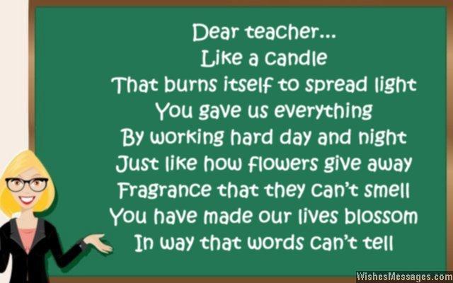 Contoh puisi bahasa Inggris tentang guru
